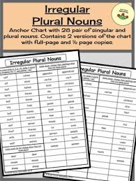 Irregular Plural Nouns Differentiated Anchor Charts