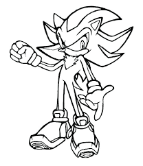 Coloring Sonic Sonic Coloring Page Sonic Color Page Shadow The