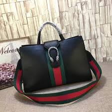 gucci dionysus leather top handle bag black 444167