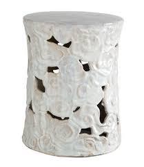 white garden stool white garden stool o60