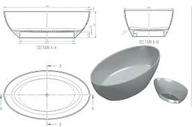 standalone bathtub dimensions tempting