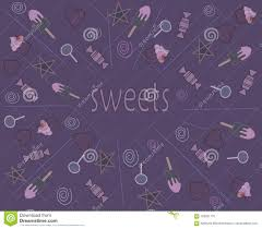 Sweets On A Purple Background Textures And Backgrounds Pattern