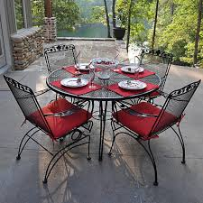 plimenting Patio with Wrought Iron Patio Furniture