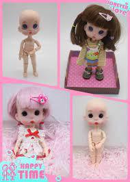 OB11 Búp Bê Tùy Chỉnh 1/8 Búp Bê BJD OB Búp Bê DIY Polymer Bộ Đất Sét Nặn Búp  Bê Mini Dolls