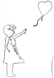 Disegno Di Ragazza Con Palloncino Di Banksy Da Colorare Disegni Da