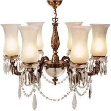 maharaja lavishly decorated chandelier with cut glass shades medium