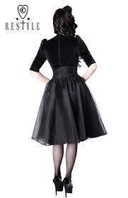 Lush Clothing Size Chart Black Dress Pin Up 50 Heart Neckline Organza R 14 Black Velvet Dress