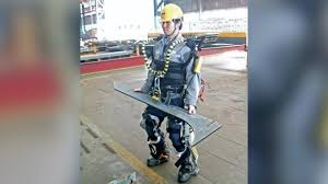 shipyard workers use robotic suit to have super strength shipyard workers use robotic suit to have super strength