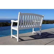 vifah bradley 4 ft patio bench v1629
