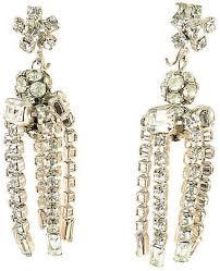 one kings lane vintage 1950s crystal chandelier earrings neil zevnik