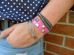 diy duct tape studded bracelets