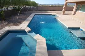 Fine Pool Designs With Spa And Geometric Design In Innovation