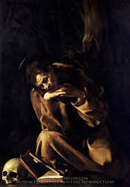 saint francis in tation by caravaggio