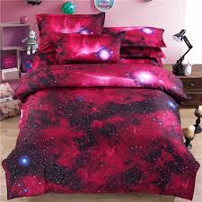 whole new 3d galaxy bedding sets twin queen size universe outer space themed bedspread bed linen bed sheets duvet cover set clearance duvet covers blue