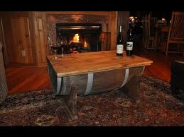 build a whiskey barrel coffee table