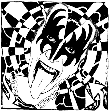 Small Picture Gene Simmons Kiss Maze Maze Portrait Maze Art For Kiss Coloring
