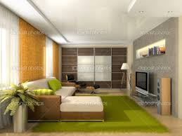 Cozy Green Fur Rugs For Modern Apartment Living Room Ideas And White Sectional Sofa Plus Interior