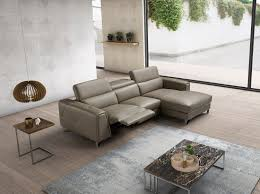sku 196255 italian made taupe full leather sectional