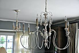 stunning french wire basket chandelier