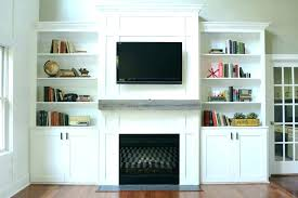 tv stand built in fireplace