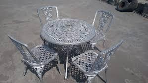 cast iron garden table chair set