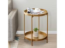 2 tier small round coffee end table