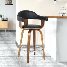 damon modern 26 inch walnut and black faux leather counter 26 inch bar stools canada