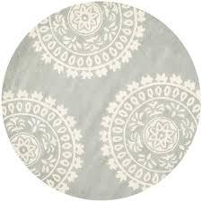 safavieh bella grey ivory 5 ft x 5 ft round area rug