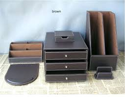 brown leather desk accessories leather desk accessory gorgeous luxury desktop accessories and get filing