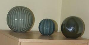 Decorative Balls Next Next 60 Green Ceramic Decorative Balls In Excellent Condition 7