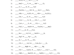 balancing equations practice worksheet answers chemical 1 by writing and p 2 answer problems pr