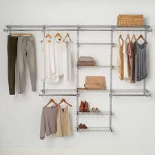 rubbermaid configurations closet kits 4 8 deluxe titanium com
