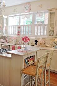 Romantische Küche Mit Shabby Barstühlen Haus Garten