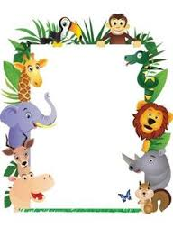 jungle animals border clipart. Plain Animals To Jungle Animals Border Clipart B