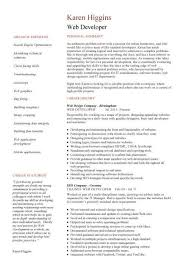 Web Developer Resume Delectable Web Developer Resume Example CV Designer Template Development
