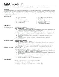 Administrative Assistant Resume Objective Sample Resume Personal Assistant Sample Executive Assistant Resume 88