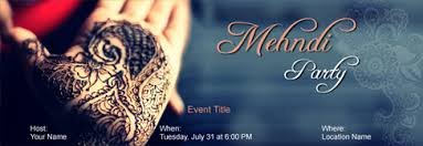 Free Mehndi Party Invitation With Indias 1 Online Tool
