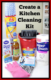 get your kitchen clean create a kitchen cleaning kit dothemicrotwist diy cleaning ad