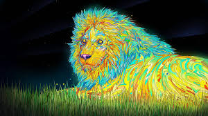 lion wallpaper abstract. psychedelic lion wallpaper abstract