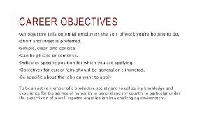 Job Objective For Resume Impressive Objectives For Resumes ] Objectives For Resumes Objectives For