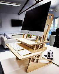 standing desk imac. Delighful Imac Our SDesk 22 Wooden Standing Desk Converters With 27u2033 IMac On Standing Desk Imac