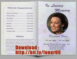 Free Download Funeral Program Template