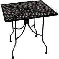metal mesh patio furniture. American Tables \u0026 Seating ALM3048 30 Inch X 48 Rectangular Top Outdoor Table With Umbrella Metal Mesh Patio Furniture