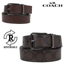sugar coach coach men belt leather belt reversible leather f64839 mahogany x brown rakuten global market