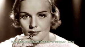 history of makeup the 1930 s