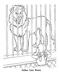 Small Picture Roaring Lion Zoo Animal Coloring Pages Zoo Lions Coloring Page