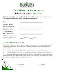 The Monster Challenge submission form - individual by Kathleen Fields -  issuu
