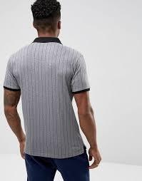 fila vintage polo. fila vintage striped polo shirt in grey men shirts