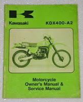 motorcycle page factory repair manuals 1980 kawasaki kdx400 a2 owners service manual kdx 400 motorcycle owner s repair