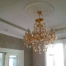 gold and crystal chandelier edrexco pertaining to popular property gold crystal chandelier ideas